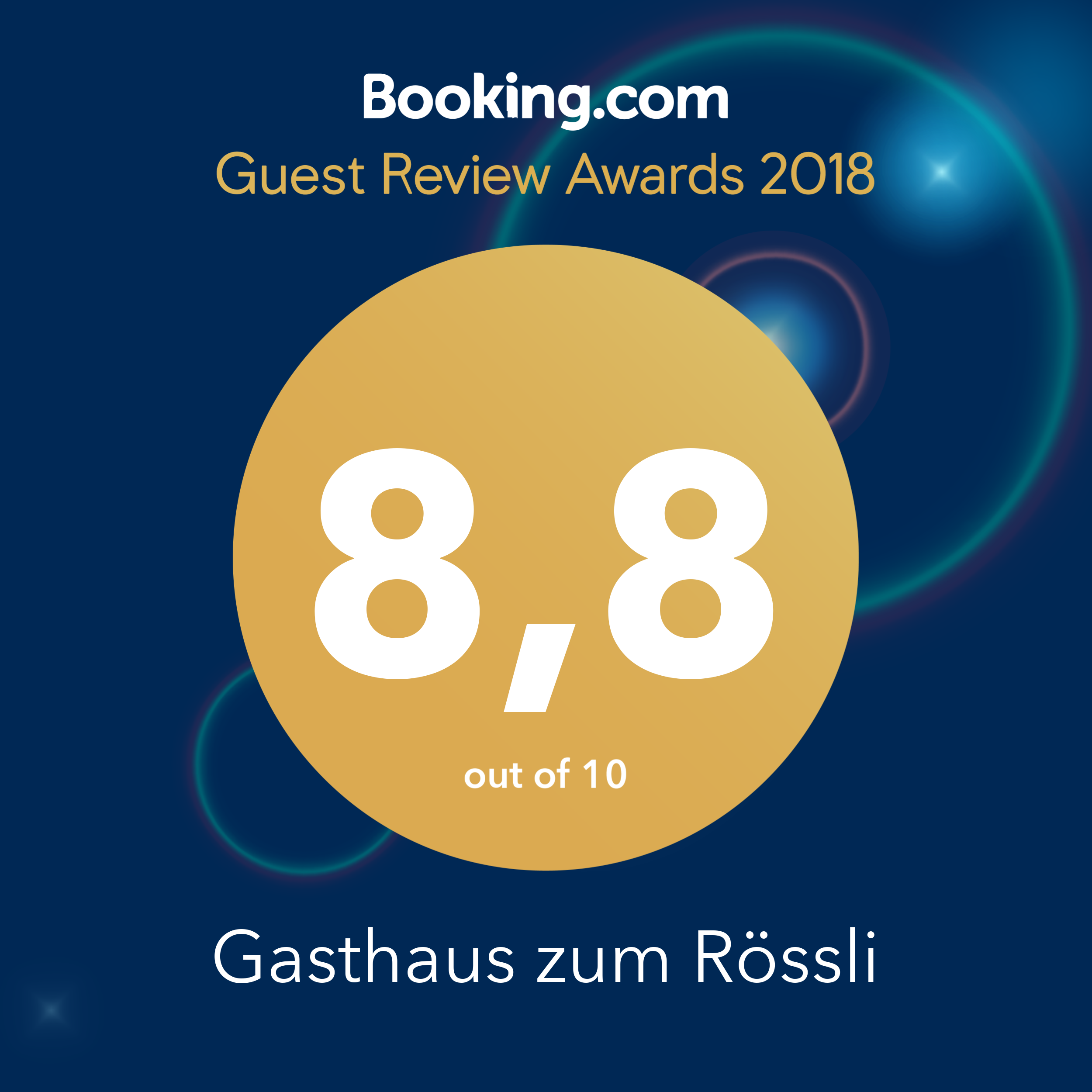 Booking Guestreview 2018